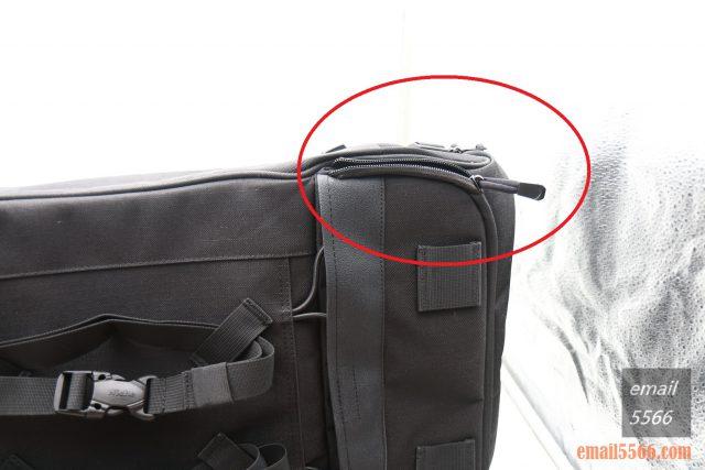樂奇重機可變形後尾包-重機露營旅行袋-主袋底部擴充式凹型設計,加大收納空間