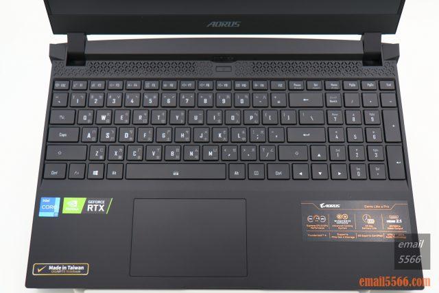 技嘉 AORUS 15P 極速神鷹 電競筆電 開箱-3080顯卡電競、360Hz螢幕更新-筆電鍵盤部
