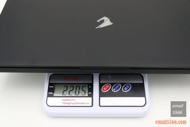技嘉 AORUS 15P 極速神鷹 電競筆電 開箱-3080顯卡電競、360Hz螢幕更新-筆電本體重量