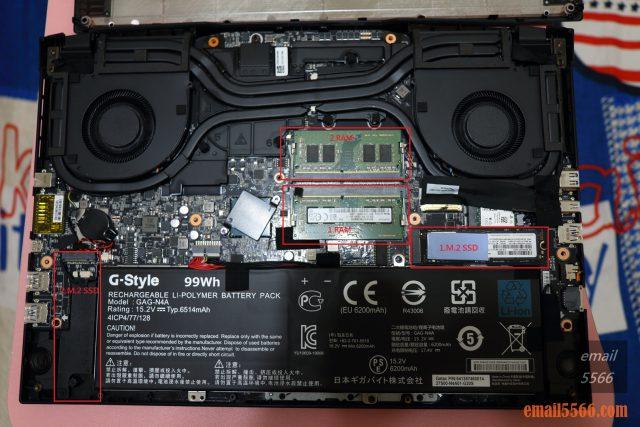 技嘉 AORUS 15P 極速神鷹 電競筆電 開箱-3080顯卡電競、360Hz螢幕更新-筆電內部組件